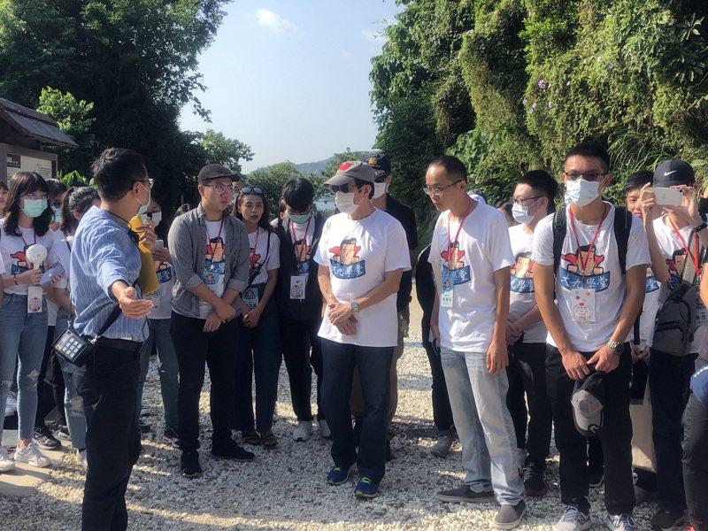 前總統馬英九上午出席「大九學堂」在淡水滬尾砲台的活動。記者劉宛琳/攝影