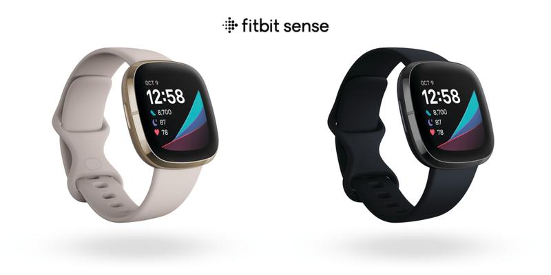 Fitbit推出首款健康智慧手錶Fitbit Sense,具備壓力管理、皮膚溫度感測等健康功能。圖/Fitbit提供