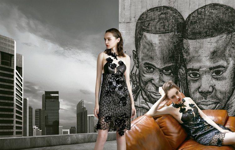 Khieng ATELIER的2020秋冬服裝以剛柔並濟表現當代女性的自信美。圖...