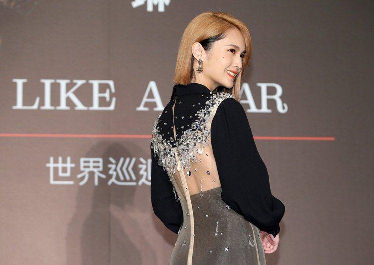 楊丞琳穿MIU MIU秋冬新裝。記者余承翰/攝影