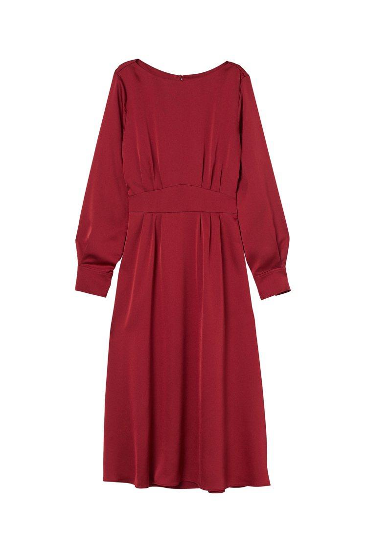 H&M與Giuliva Heritage聯名系列洋裝1,499元。圖/H&M提供