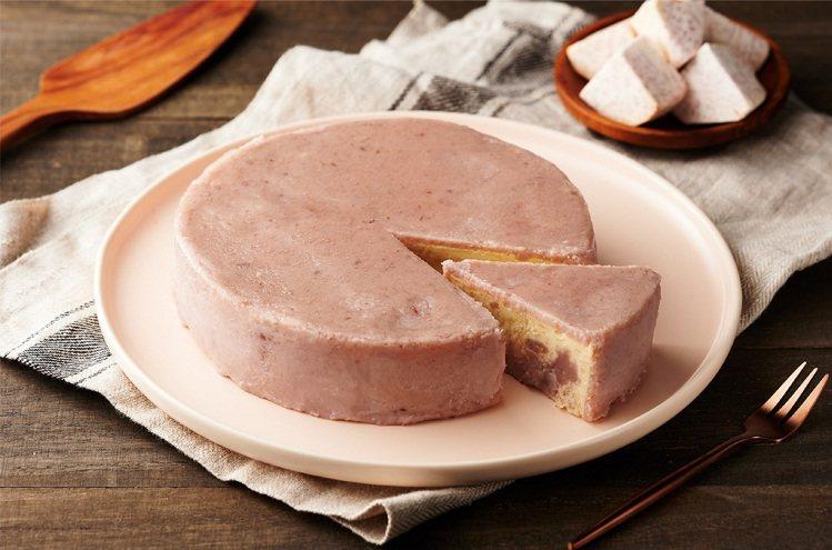 1% bakery特濃芋頭乳酪蛋糕,建議售價650元,限量900盒。圖/全聯福利...