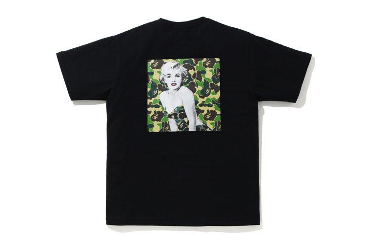 A BATHING APE®與MARILYN MONRO聯名T恤3,199元。圖...