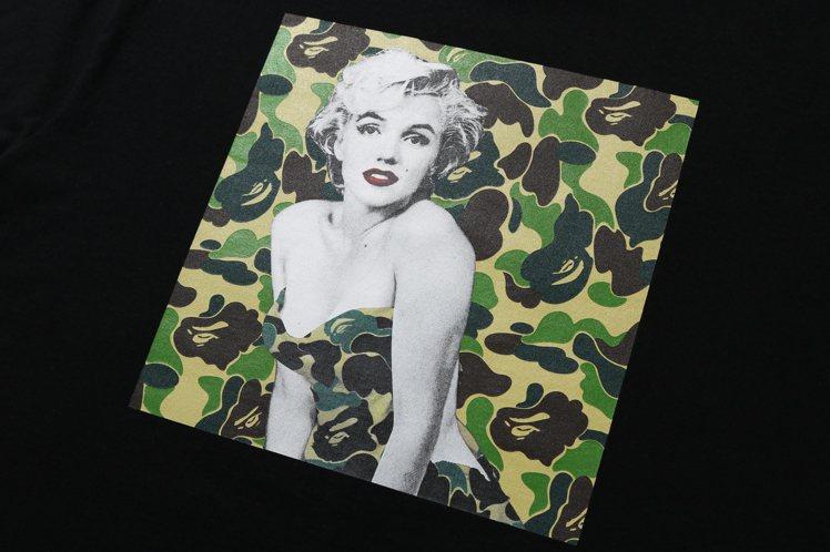為了向瑪麗蓮夢露致敬,潮牌A BATHING APE®推出一系列轉印了經典圖集的...