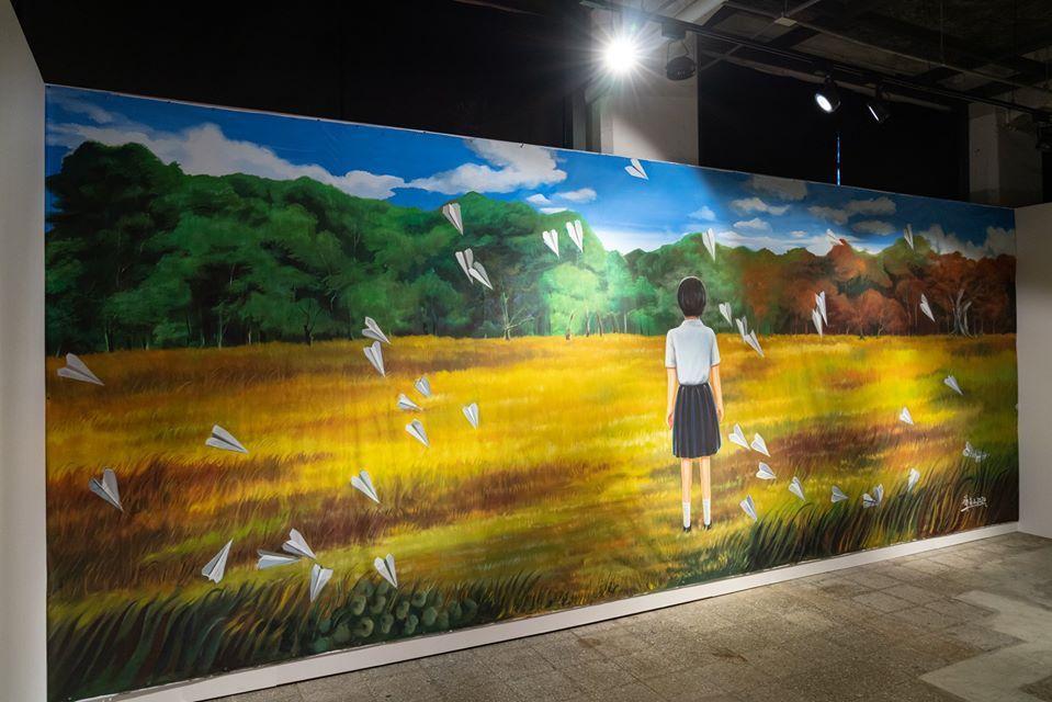 謝森山老師繪製的作品《致自由》。 圖/家安老師提供