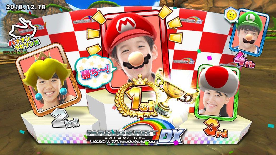 大型電玩版的瑪利歐賽車可以透過攝影鏡頭,將自己的臉映在畫面上!這應該是許多人去遊...