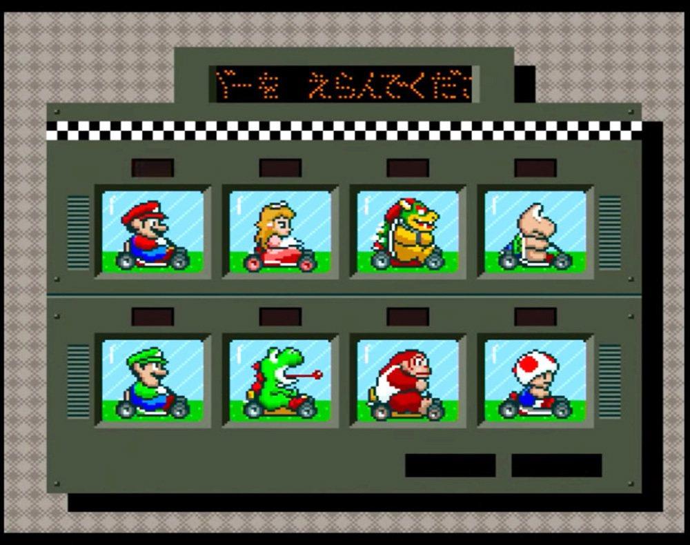 瑪利歐賽車最早只有八位角色可以挑選,但這八位角色就已經有不同的車子性能在內,瑪利...