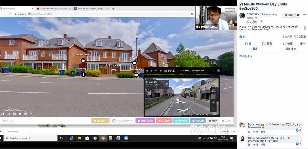 CENTURY 21加拿大示範線上看房整合Google Map資源。 圖/21世...