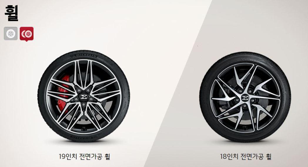 Kia Stinger Meister可選擇18吋或19吋鋁圈。 摘自Kia