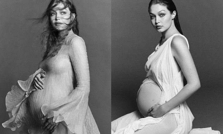 Gigi Hadid公開孕婦寫真。圖/摘自IG