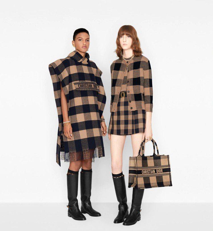 曾之喬和Angelababy的早秋穿搭剛好就是官網上的造型圖片。圖/取自DIOR...