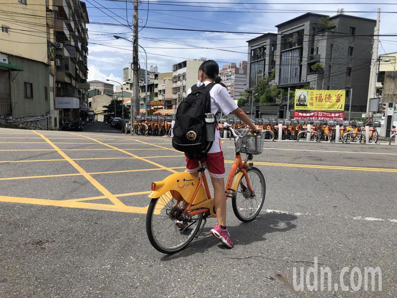 彰化市YouBike學生使用率高。記者林敬家/攝影