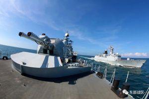 解放軍東部戰區海軍某驅逐艦支隊,近日於東海完成演練。圖/取自解放軍東部戰區微信公眾號