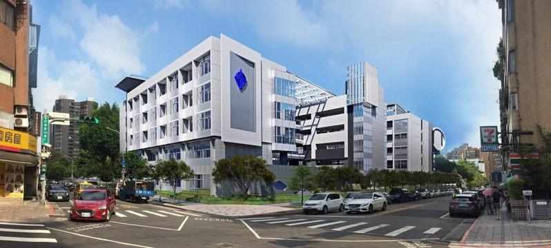 大安國中新建校舍完工外觀模擬圖。圖/新工處提供
