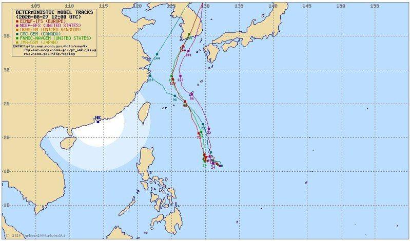 即將生成的梅莎颱風路徑預測。 圖/截自typhoon2000