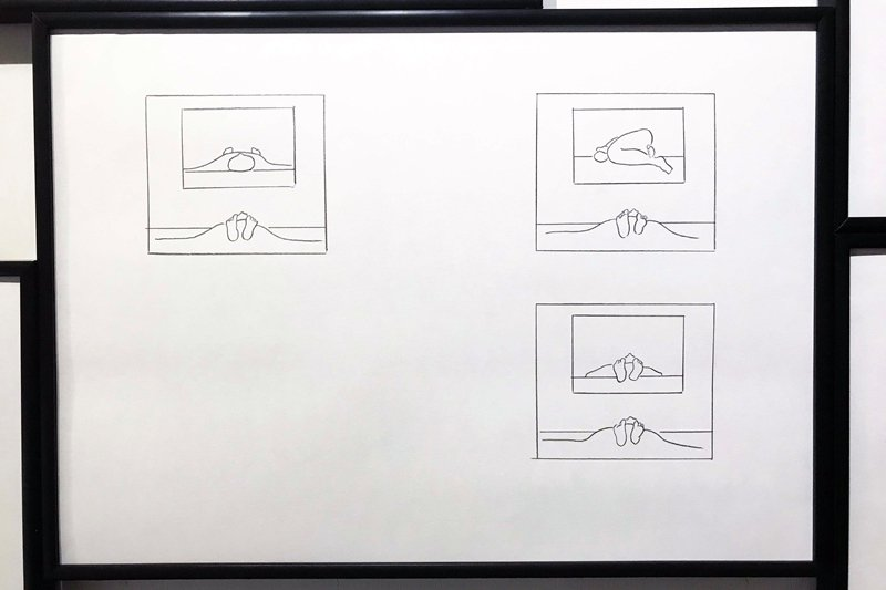 倪和孜(Son Ni)的畫作常以抽象的幾何圖形和智性的線條結構為基調。 圖/作者提供