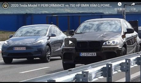 影/Tesla Model Y Performance單挑BMW X6 M!
