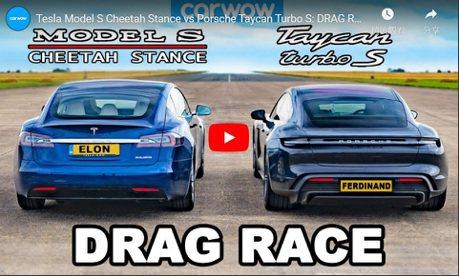 影/最強加速王!Porsche Taycan Turbo S完勝Tesla Model S!