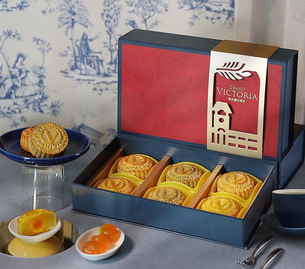金緻秋紅.廣式月餅禮盒(6入)每盒1,280元。業者/提供