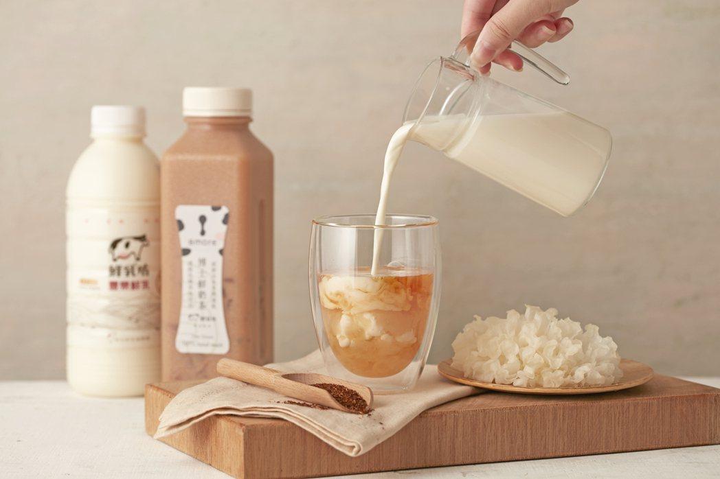 8more研發無咖啡因的博士鮮奶茶銀耳飲,造成孕婦搶購。 8more /提供
