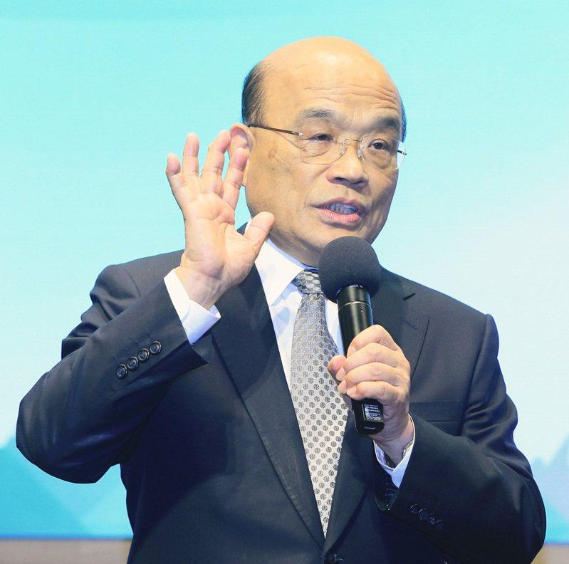 行政院長蘇貞昌。聯合報系資料照/記者潘俊宏攝影