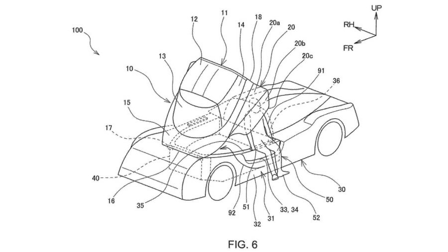 Toyota在美國專利商標局(USPTO)的專利圖。 摘自GR86網站