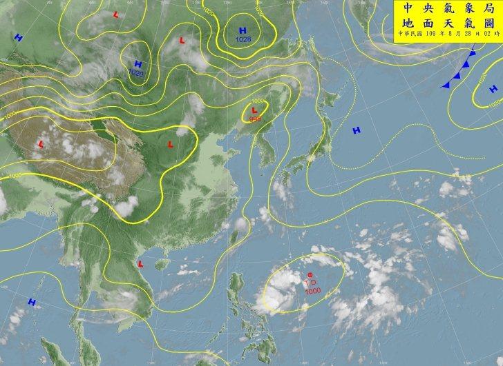 菲律賓東方海面有熱帶低壓醞釀中。圖/取自氣象局網站