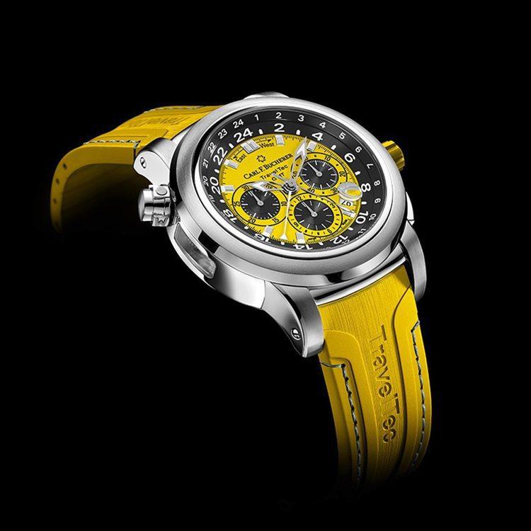 寶齊萊Travel Tec GMT腕表,從表帶、表面與表冠皆為同色系設計,散發飽...