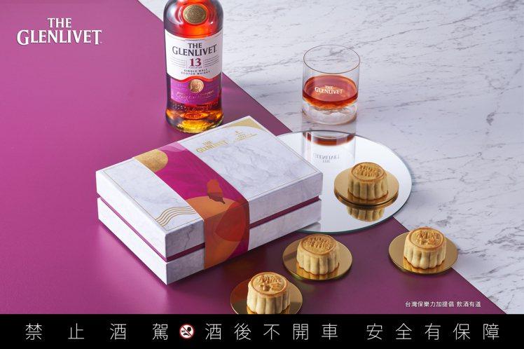 格蘭利威和香格里拉台北遠東國際大飯店合作,推出六入一盒的【醇月】威士忌奶黃核桃月...