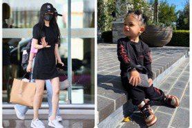 楊冪和億萬富翁網紅的2歲女兒撞包 水鑽小提包亮晶晶