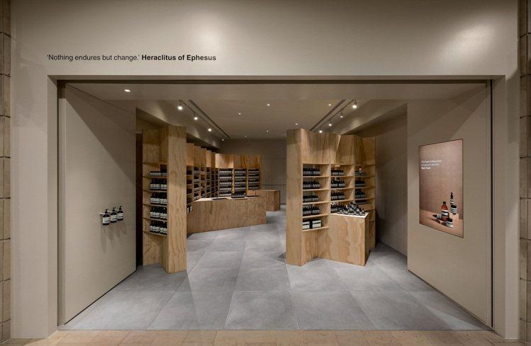 Aesop台北101期間限定店,內裝可重複利用。圖/Aesop提供