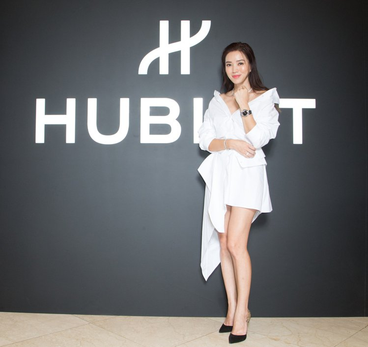 林牧潔出席HUBLOT宇舶錶台灣首間融合的藝術期間限定店。圖/宇舶表提供