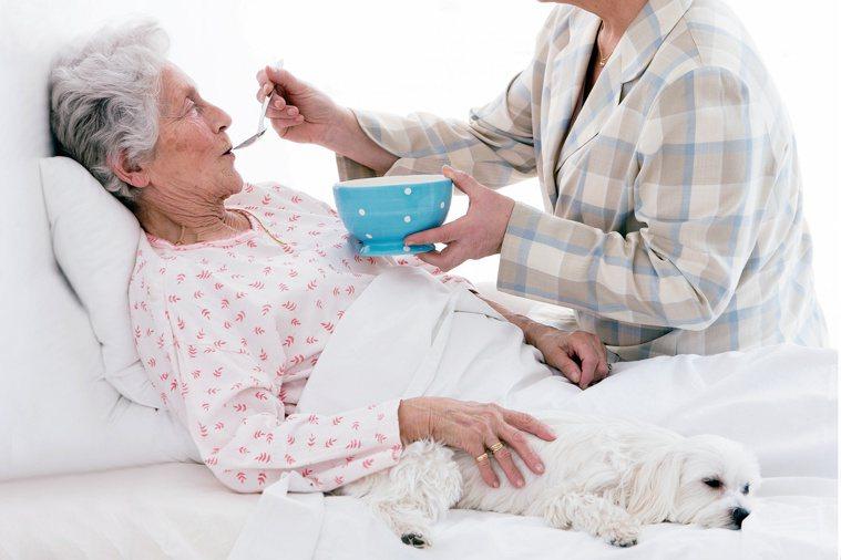 如何避免長輩進食發生嗆咳?注意吞嚥基本安全原則很重要。圖/123RF