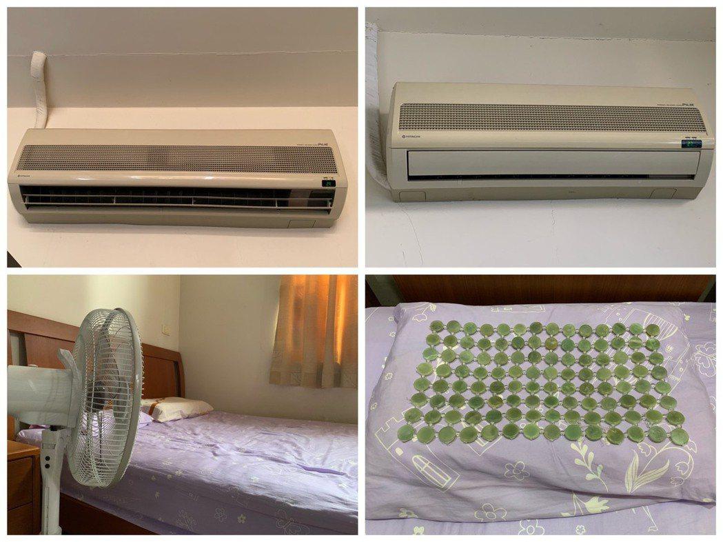 善用空調並搭配通風,日夜都不致燠熱。圖/林萱宜提供