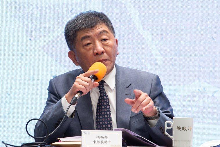 行政院昨天召開說明美豬美牛進口記者會,衛福部長陳時中出席。記者季相儒/攝影