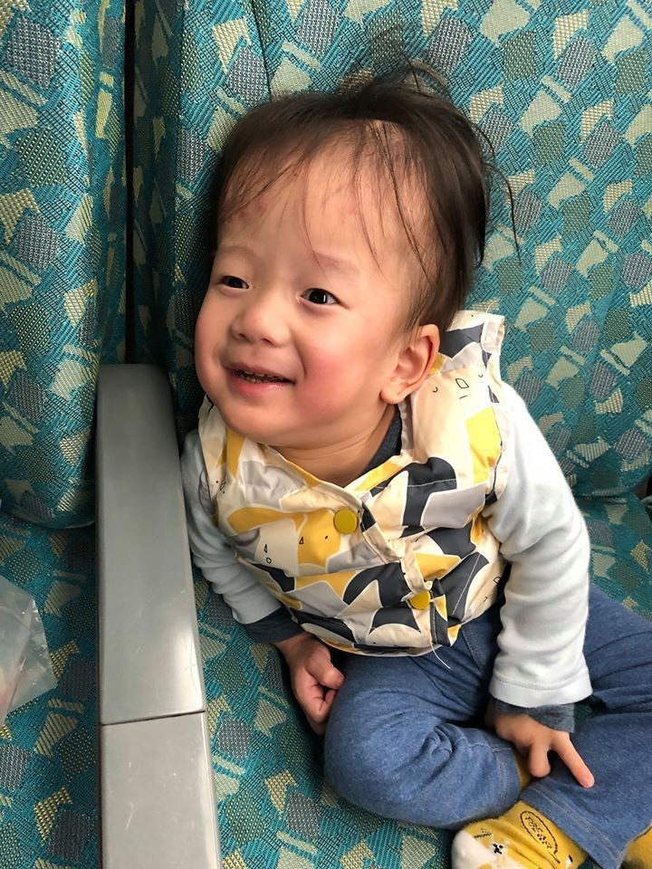 丹寧小潮天真的笑容融化大家的心!圖/余尚蓉提供
