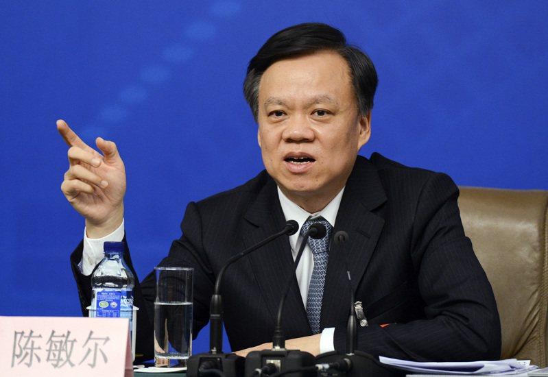 重慶市委常委擴大會議上針對重慶的汛情災情提出「四個特別」,被認為是出自市委書記陳敏爾(圖)之手,背後折射出中共政壇的政治機鋒。中新社