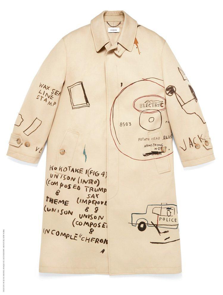 COACH X Jean-Michel Basquiat大衣,價格店洽。圖/CO...