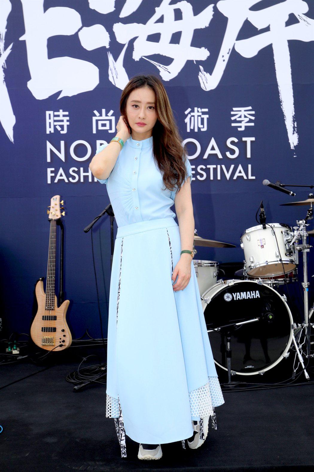 陳德容擔任「2020北海岸時尚藝術季」時尚大使。圖/伊林娛樂提供