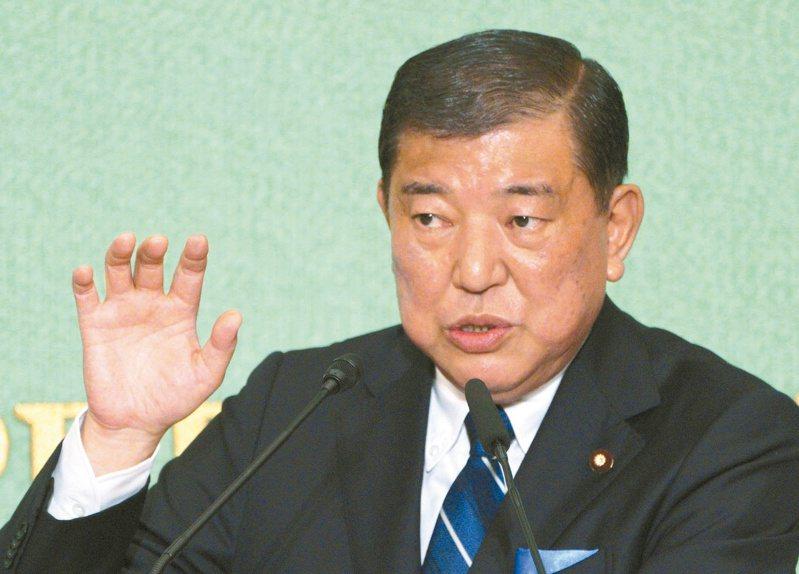 石破茂曾擔任自民黨幹事長,基層實力雄厚但在國會議員間人緣欠佳。(美聯社)
