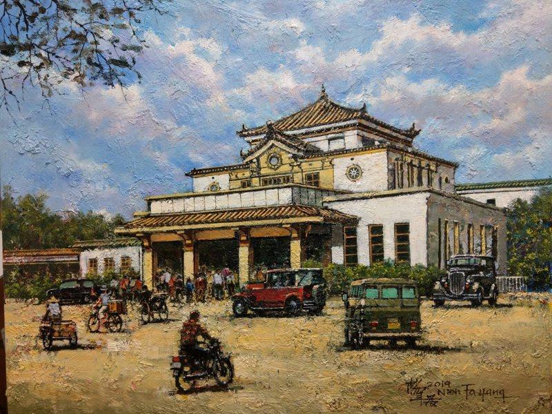 「畫說台鐵與台灣建築遺產展」明起在高雄車站展開。圖/台鐵局提供