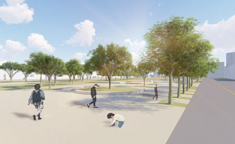 大湳雅公園將改造升級,設有街角廣場。示意圖。圖/新竹市政府提供