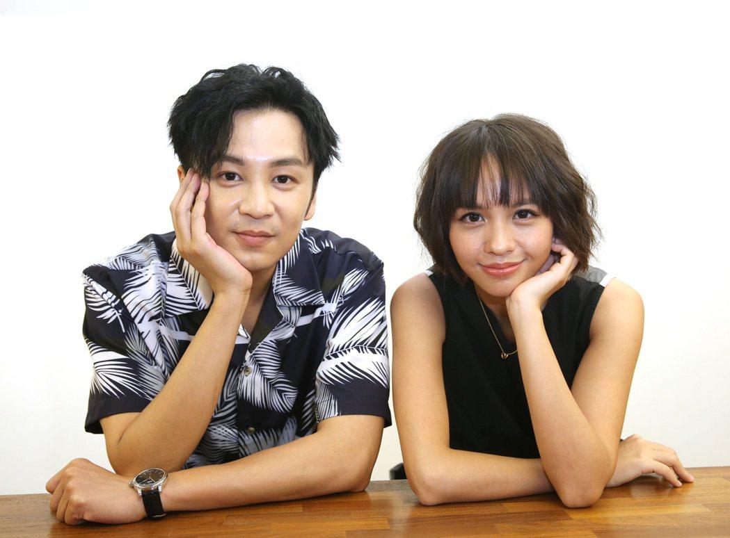 張書偉(左)與黃姵嘉在「我的婆婆怎麼那麼可愛」中組成「鷗貴CP」。記者曾吉松/攝...