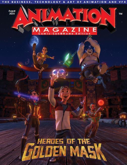 動畫電影「金色面具·英雄」,展現神秘壯觀的三星堆魅力,圖為電影海報。圖/本報四川德陽傳真