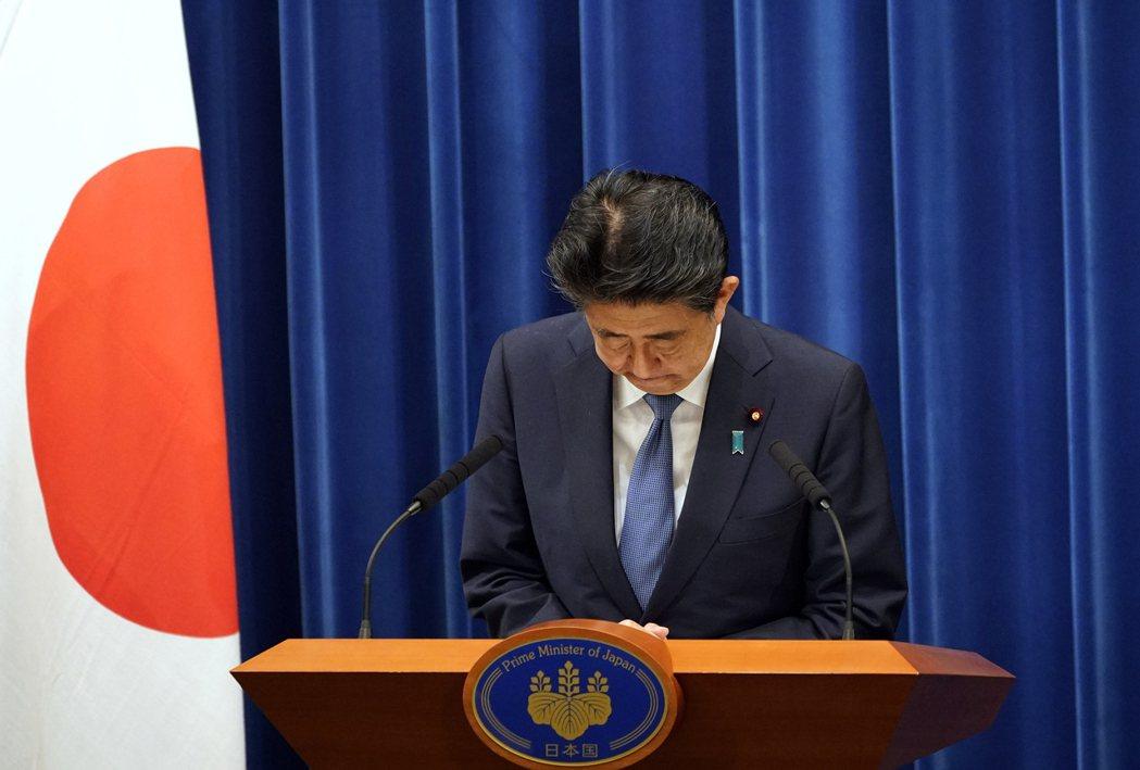 安倍晉三於8月28日正式宣佈,因自身的宿疾惡化,為了不影響國政,將辭去內閣總理大臣一職。 圖/美聯社