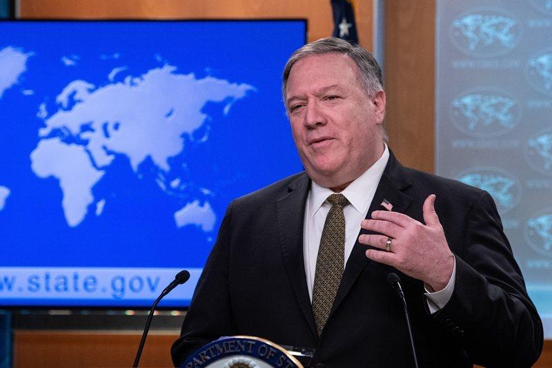 美國國務卿蓬佩奧曾於7月13日聲明,北京在南海的主權主張「完全非法」。圖攝於4月22日。 圖/美聯社