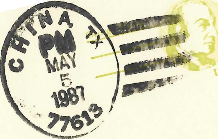 舒國治1987年經德州一處名為China的小鎮。圖/新經典文化提供