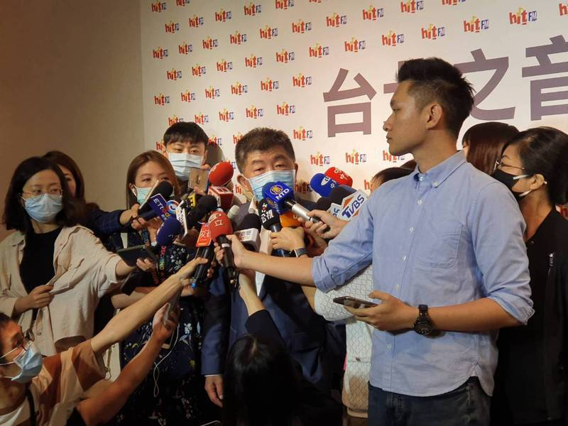 陳時中今上廣播節目,於會後聯訪。記者楊雅棠/攝影