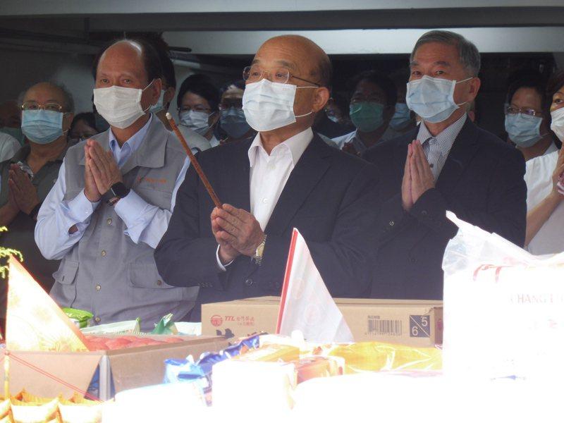 行政院長蘇貞昌今下午主持普渡儀式。記者賴于榛/攝影