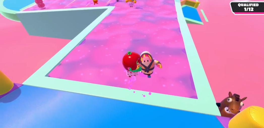 在黏液區被玩家抓住的話,很容易掉入岩漿中,在終點前慘遭淘汰